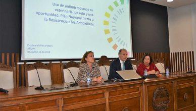 Jornada sobre Uso Responsable de Antibióticos celebrada por el Colegio de Veterinarios de Badajoz.