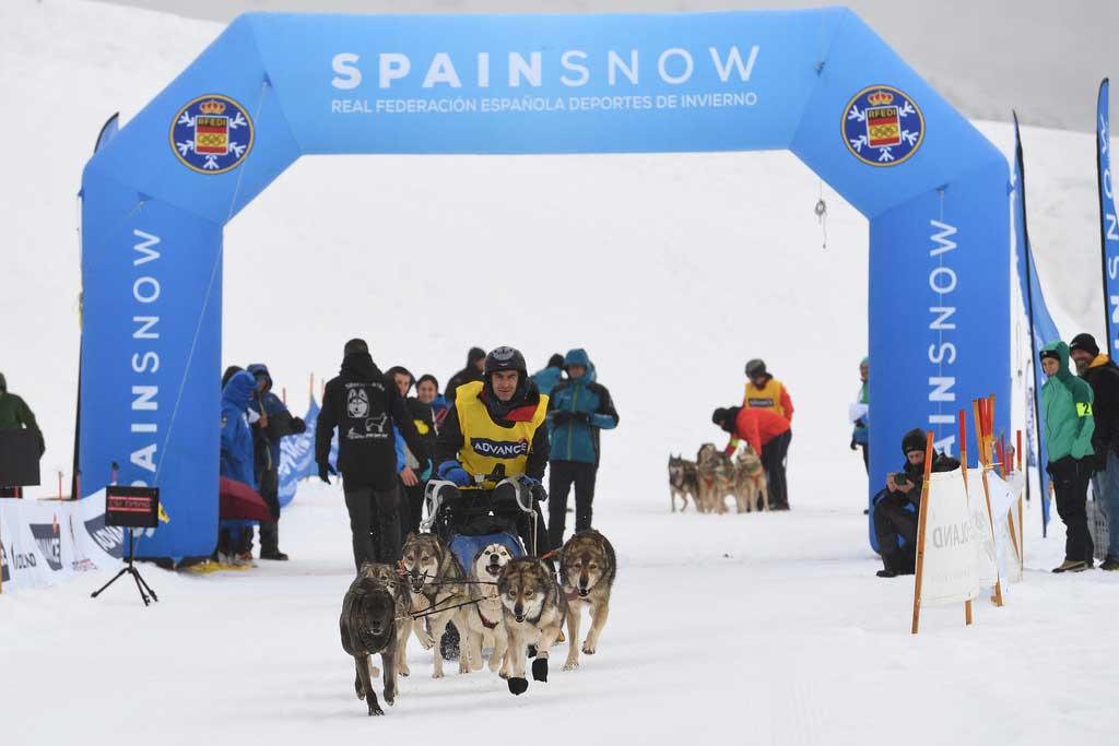 Campeonato de España de Mushing Nieve 2019 en Baqueira Beret.