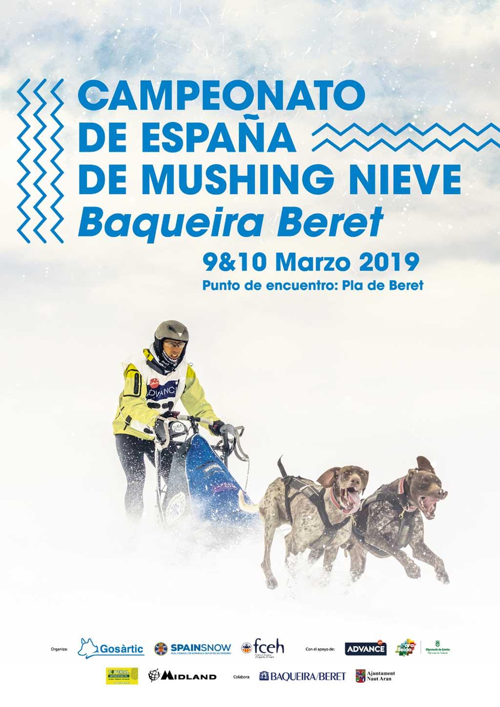 Este fin de semana se disputa en la estación aranesa de Baqueira Beret una nueva edición del Campeonato de España de Mushing Nieve, la cita de referencia estatal del deporte con perros.