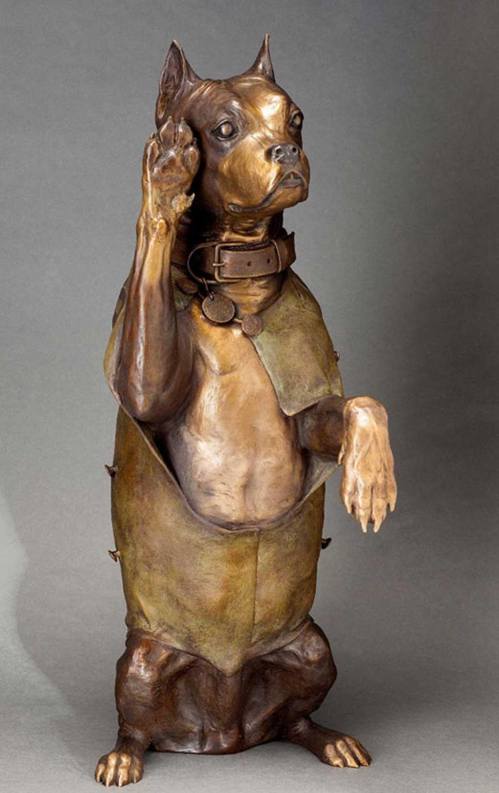 Stubby, el primer perro militar de Estados Unidos tiene nueva estatua.