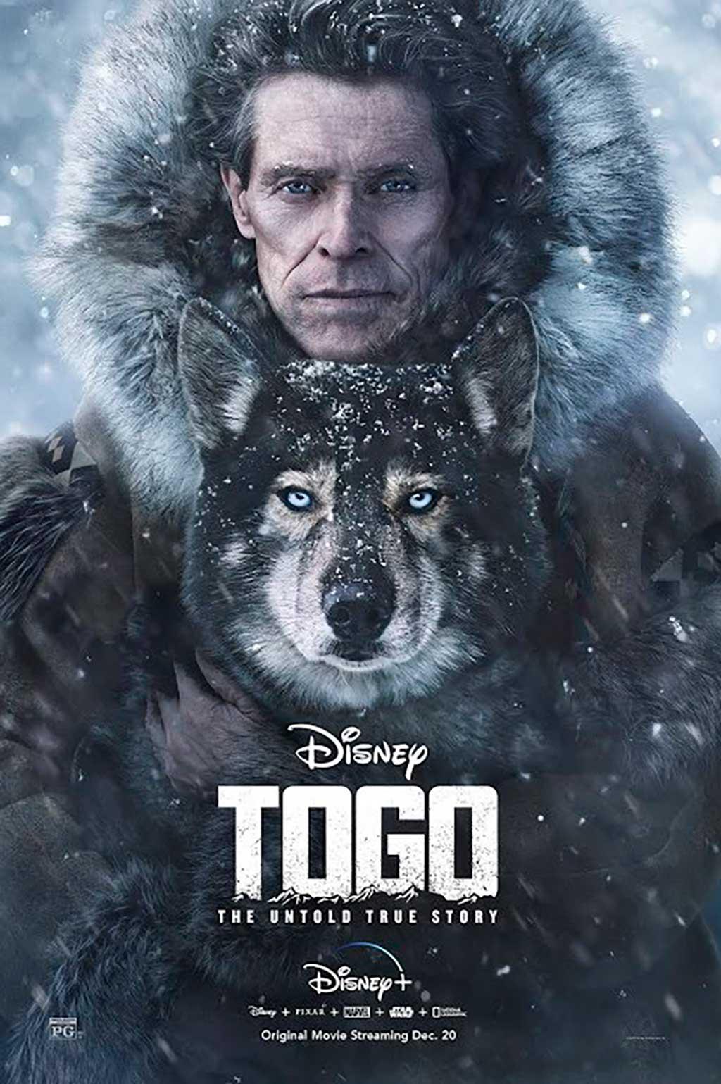 Togo, la película de Disney que homenajea a los perros de trineo.