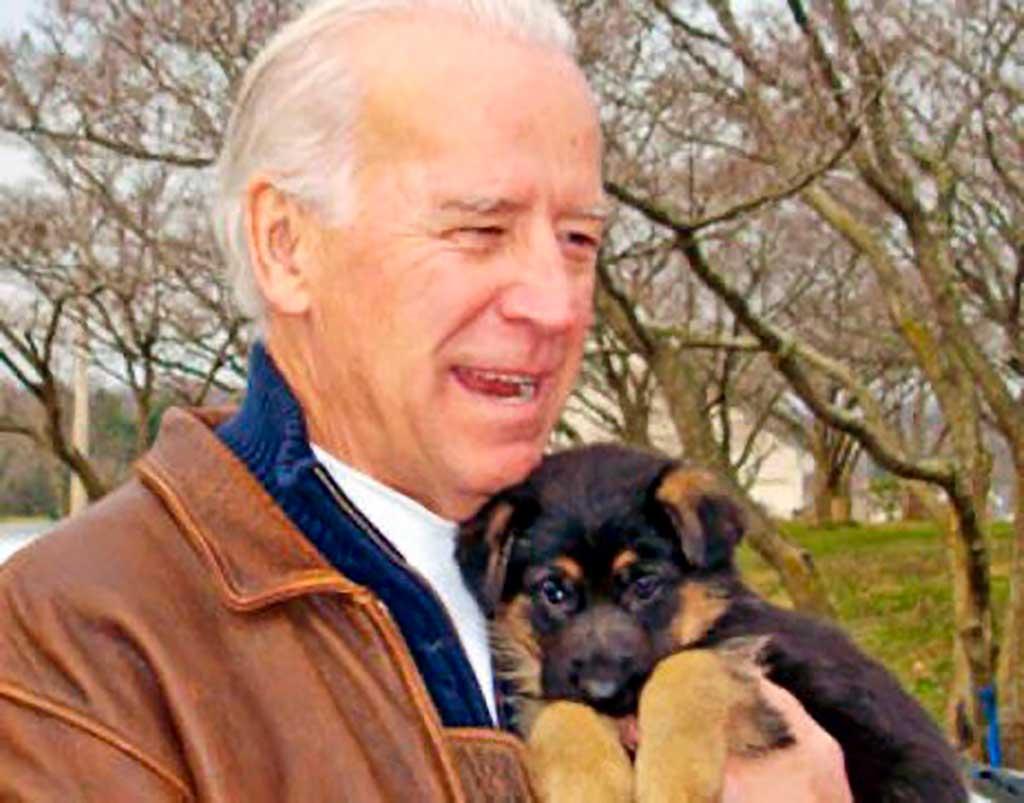 """Con el mensaje """"Adopta no compres"""", Joe Biden, el nuevo presidente de EE.UU. presume del primer perro adoptado que llegará a la Casa Blanca."""