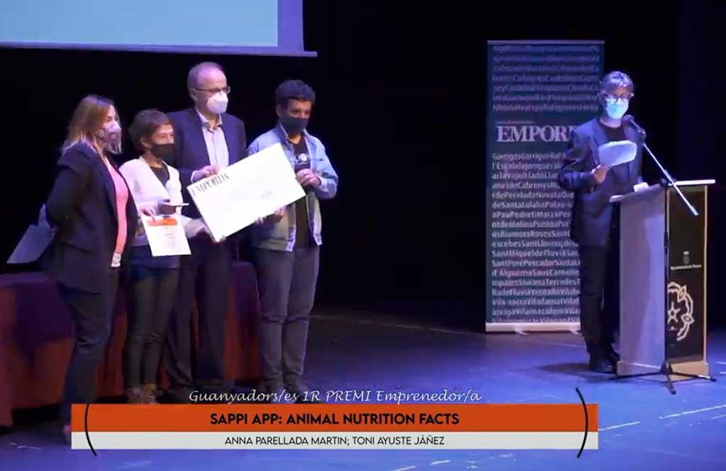 La aplicación de alimentación animal Sappi App, ha sido reconocida con el Premi Emprenedor de los Premis Emprenedors Alt Empordá 2021, por su carácter innovador, sus oportunidades de internacionalización y contribución al sector del mundo animal Sappi App: El proyecto ganador del Premio Emprendedor.