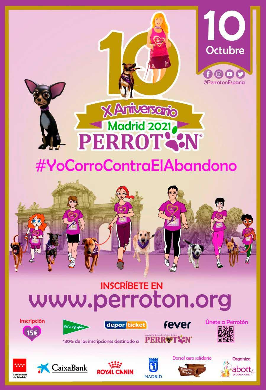 Los internacionales Victorio & Lucchino diseñan la camiseta oficial de Perrotón Madrid 2021, en su 10º Aniversario, apoyando la adopción y tenencia responsable y la lucha contra el abandono y el maltrato animal